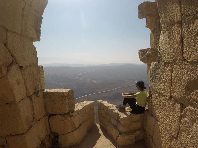 Don't ruin my story with your logic! 📖 beaufortcastle ... (Beaufort Castle, Lebanon)