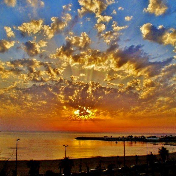 Sunset from Ramlet el bayda ramletelbayda sun sunset clouds sea ...