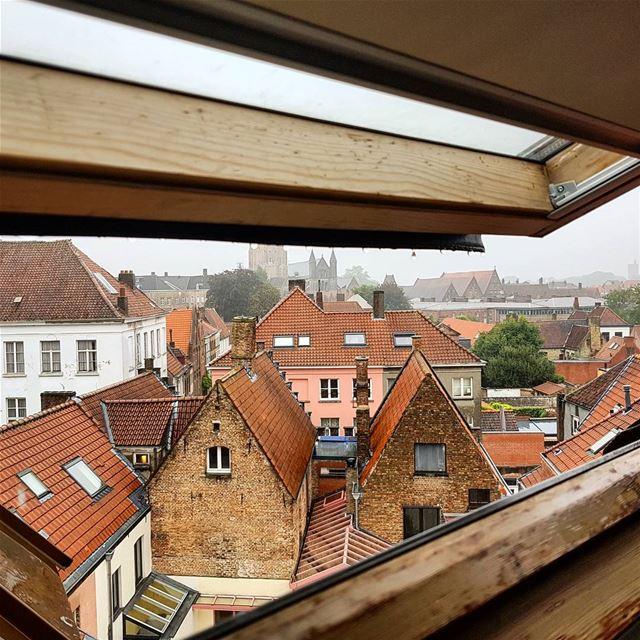 Bruges from my window. Good - magic - morning. iwokeupinheaven bruges ... (Brugge, Belgium)