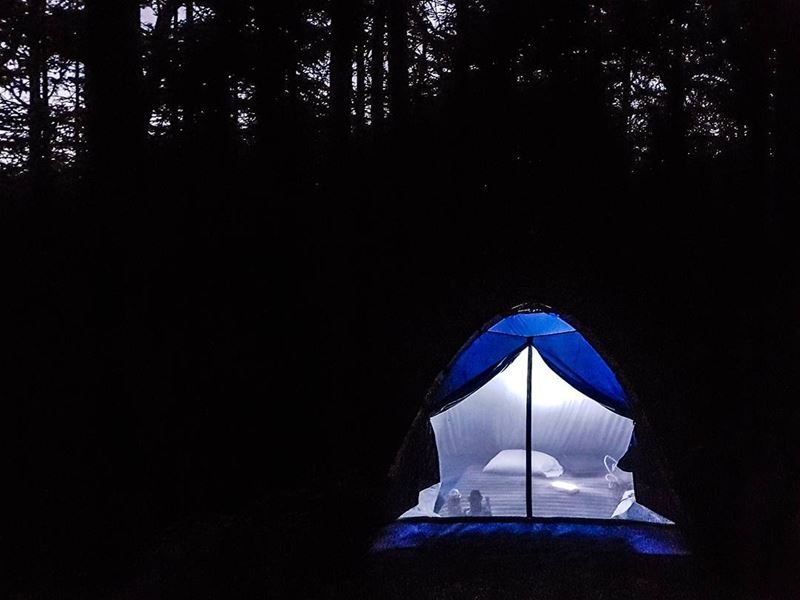 It's bedtime! 🌲🏕️🌛⭐🌲 camp mattress pillow night sleep comfort ...