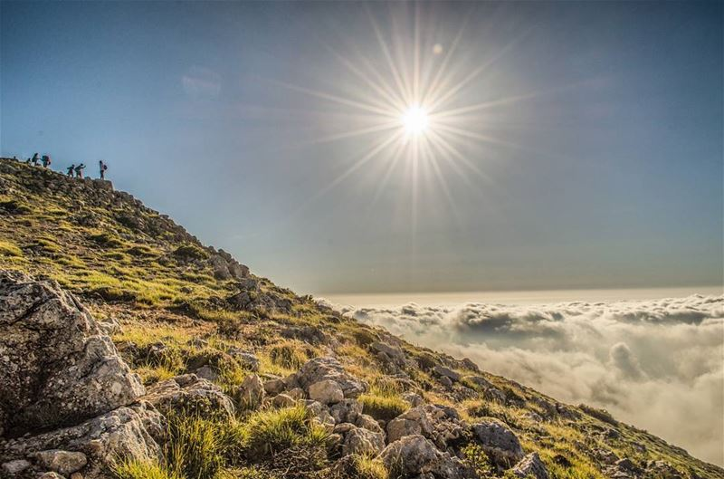 Little people above the clouds 🔝........... Lebanon ... (Al Knaysah, Mont-Liban, Lebanon)