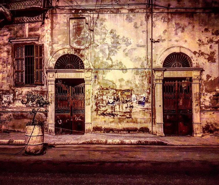 Ghosts haunted houses memory savebeirutheritage surreal night ... (Beirut, Lebanon)