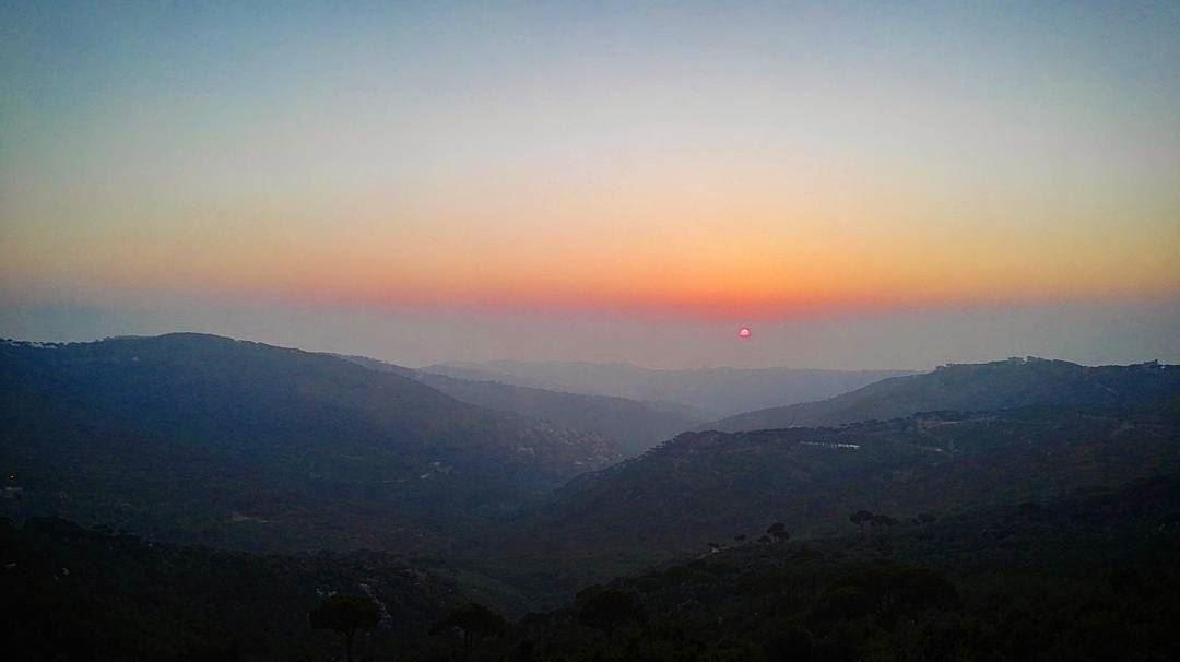 summer summertime sun sunset amazing view mountains sky Lebanon ... (Qarnayel)