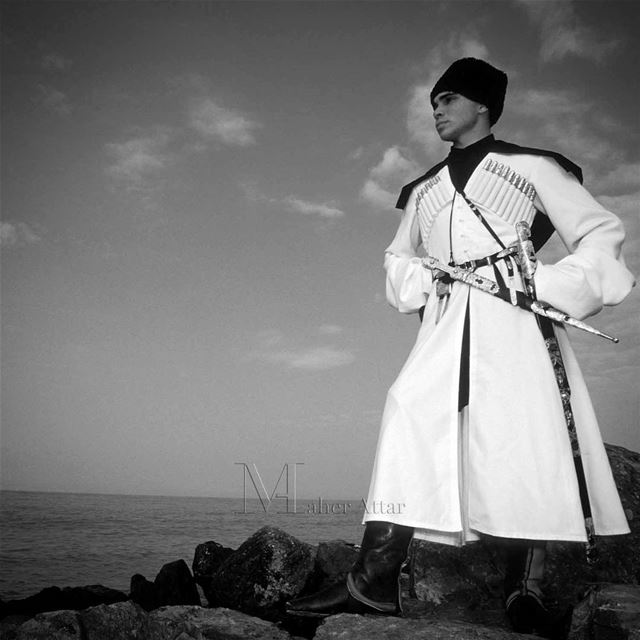 Prince Ali bin Husseinin Circassian traditional dress facing the black... (Trabzon)