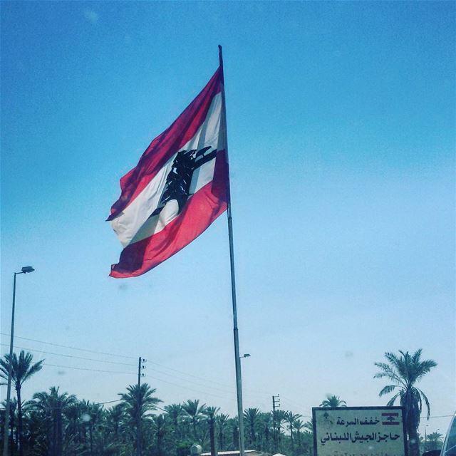 Koullouna lil watan. lebanesearmy lebaneseflag victory godblessthem ... (Saïda, Al Janub, Lebanon)