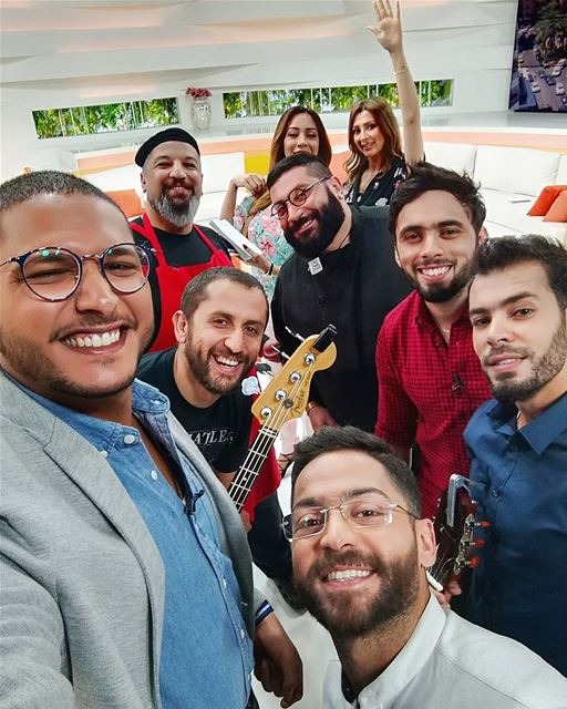 صباح_النور Selfie about_today Episod behindthescenes Team guests ... (50 Frames Studios)
