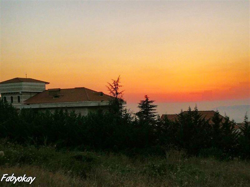 lebanon sunset sunsetporn sun nice sunset_madness soliel sunsets igers... (Chebâniyé, Mont-Liban, Lebanon)