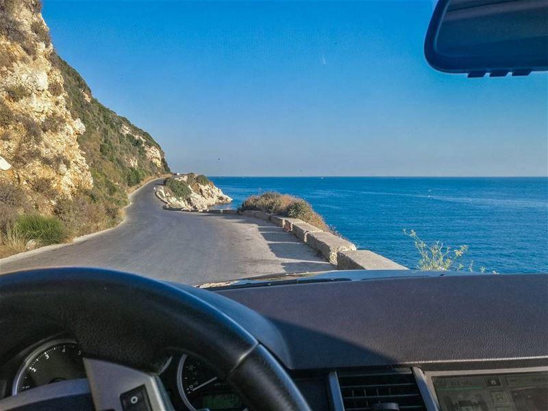 morning drive 💙💙............ Lebanon livlovelebanon ... (Hamat)