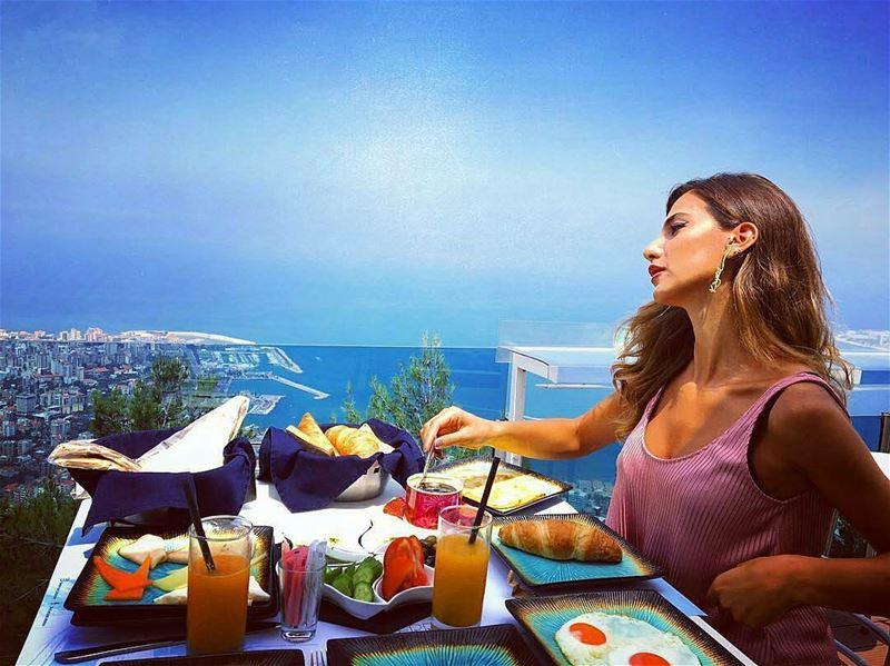 Good Morning!🌞🌈 Repost @theterrace_lebanon BreakfastWithAView ... (The Terrace - Restaurant & Bar Lounge)