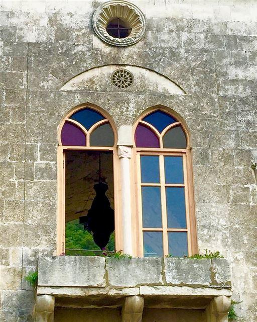 nostalgia old oldhouse window stainedglass heritage lebanonhouses ...