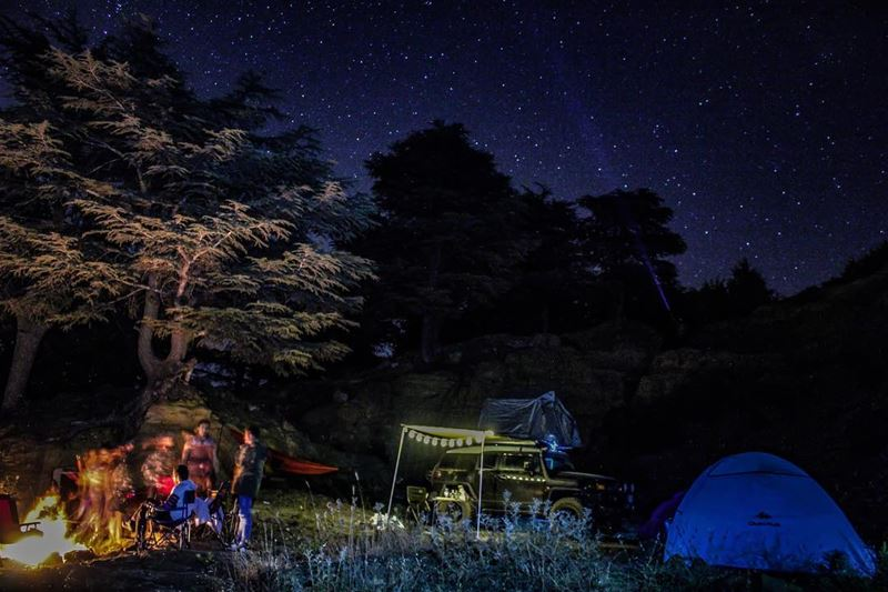 Camping is the Answer. Who cares what the question is. 🏕🌌 ... (Hadath Al Jubbah, Liban-Nord, Lebanon)
