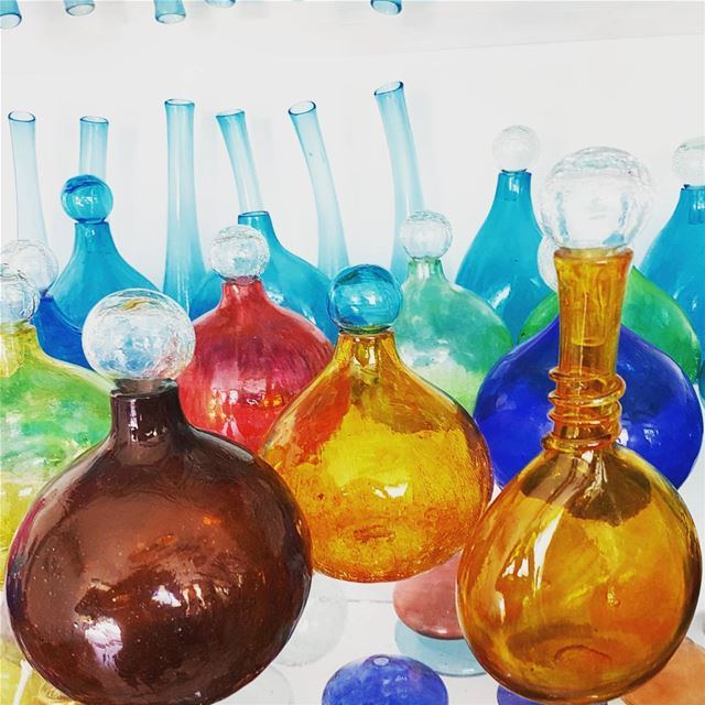 When your bottles are recycled and melted. Blown glass is a great solution... (As Sarafand, Al Janub, Lebanon)