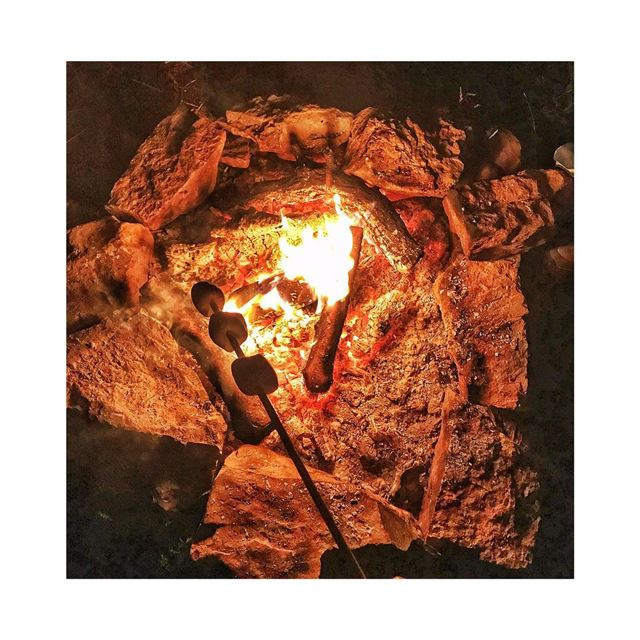 life is better around the campfire 🔥🍡 AwaketheSoul camping ... (El Laqloûq, Mont-Liban, Lebanon)
