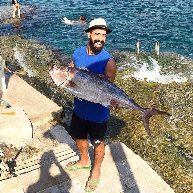 Eh this is a nice catch ..bi t fish l khelek 🐬🐟🐠 whatsuplebanon ...