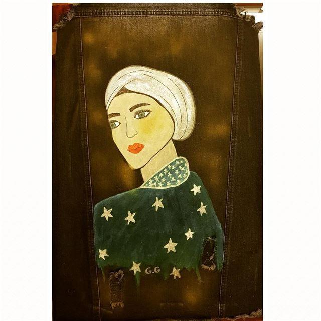 painting paintingoftheday hijabstyle türkiye lebanon greeneyes ...