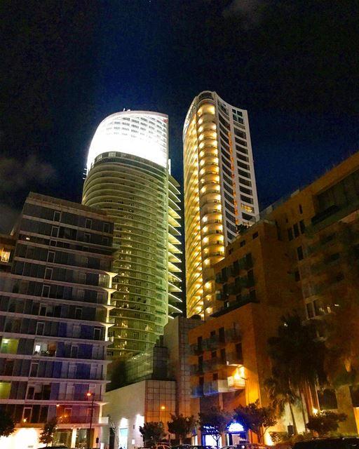 Beirut at night 💫💫💫 (Minet el Hosn)
