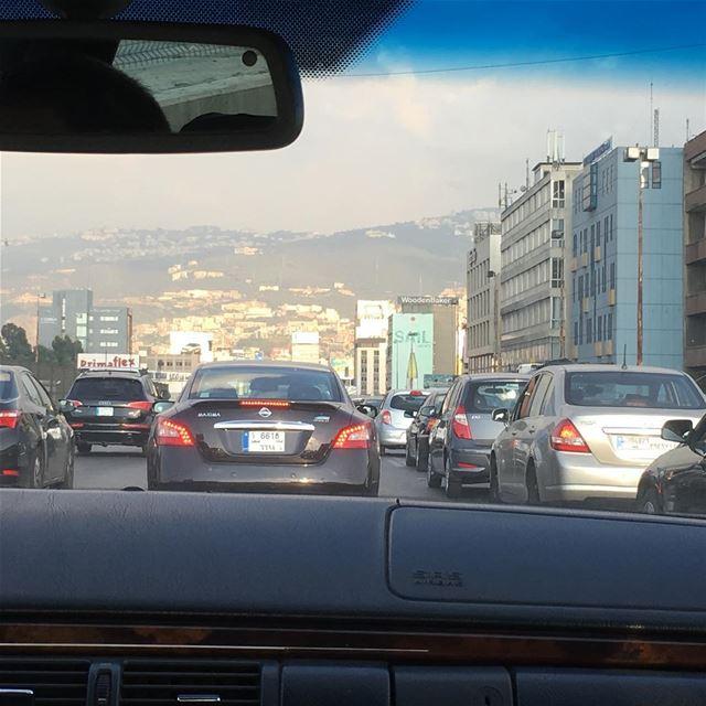 Traffic jam in Beirut lebanoninapicture beirut ... (Beirut, Lebanon)
