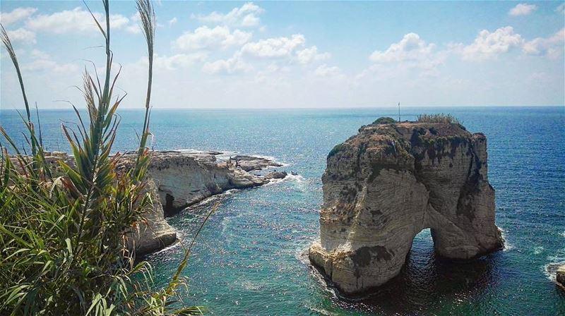 lebanon lebanese rawche rocks beirut love summer summertime sea ...