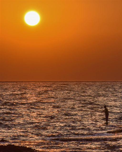 Extreme fishing. 🐟 ... (Tripoli, Lebanon)