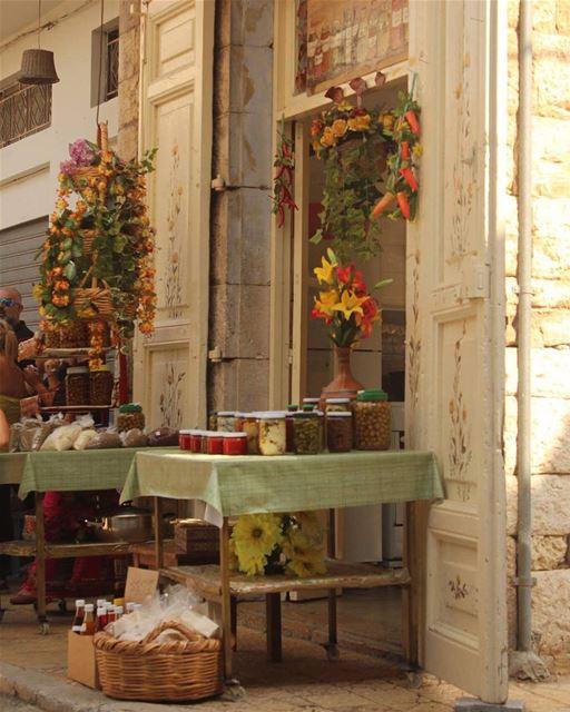 colorfully traditionalfood traditionalmarket lovelyvillage amazing... (Douma, Liban-Nord, Lebanon)