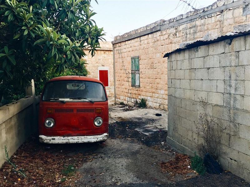 Red volkswagen van 🚘 .... HiddenTreasures WorldToXplore... (Alma Chaab, Liban-Sud, Lebanon)