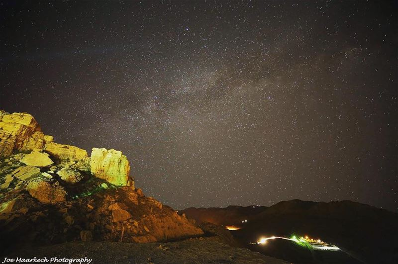 There is no moon. The stars have risen and fallen and given way to a new... (El Laklouk, Mont-Liban, Lebanon)