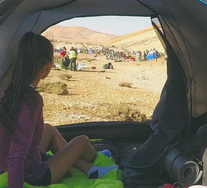 Windy Morning☀️⛺️.📷 @mansouralasmar. roam camping hiking ... (Qurnat as Sawda')