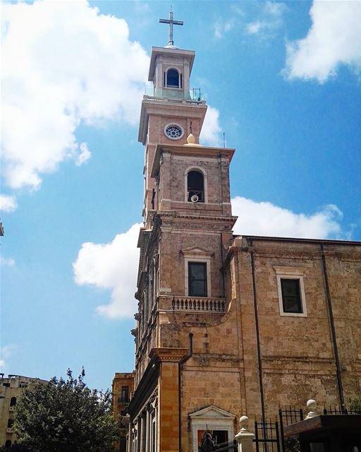 lebanon lebanese beirut beirutfootsteps architecture church bluesky... (Beirut, Lebanon)