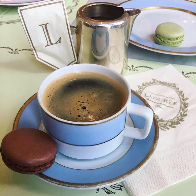 لا شيء يعادل لحظة مزاج تمحنك اياه القهوة.... turkishcoffee ... (Ladurée Lebanon)