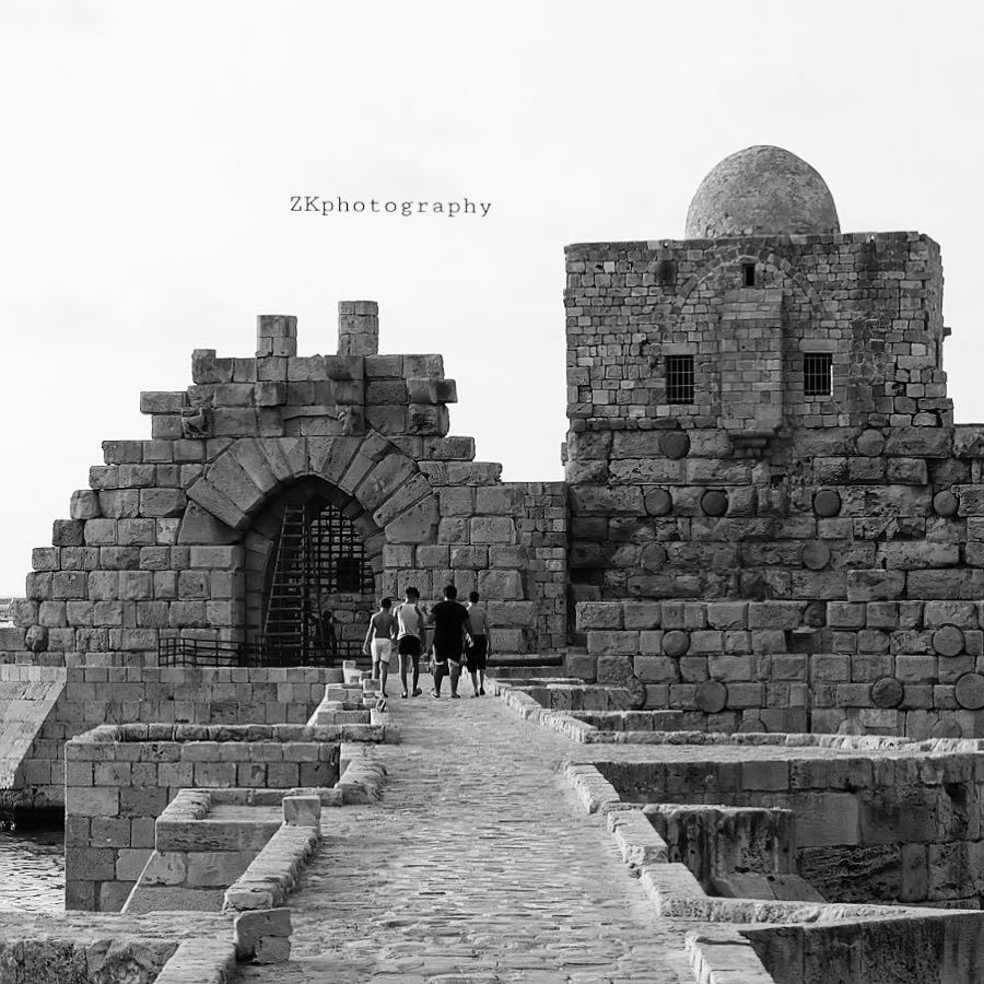 Happiness depends on ourselves.. • bnw bnw_captures bnw_planet bw ... (Sidon Sea Castle)