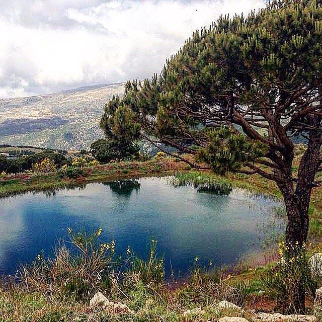 I call it The Lake of Hope... hashtagmoments Igerslebanon ... (Mount Lebanon)