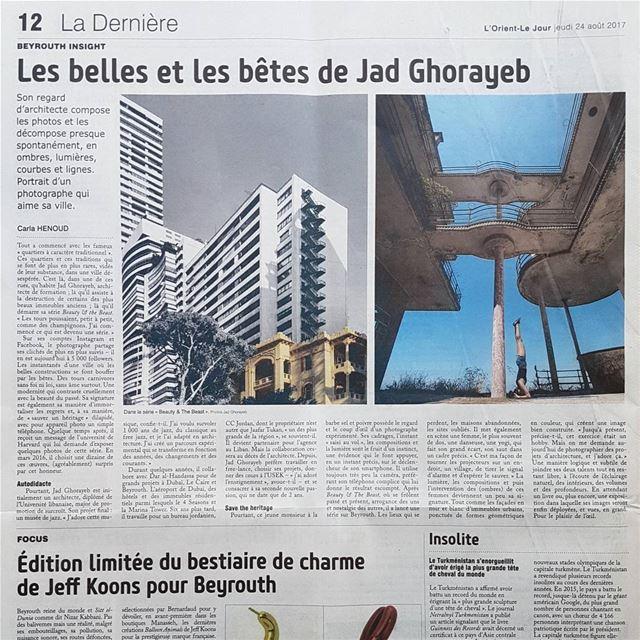 Merci! L'Orient-Le Jour, Carla Henoud & Ziyad Makhoul.Tout a commencé... (Beirut, Lebanon)