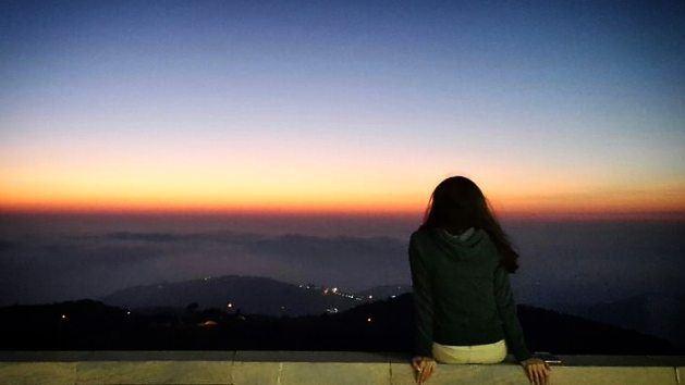 3enneya peace blessings sunsetlovers horizon skyporn clouds ... (Mar Charbel Anaya , Deir Mar Maroun)
