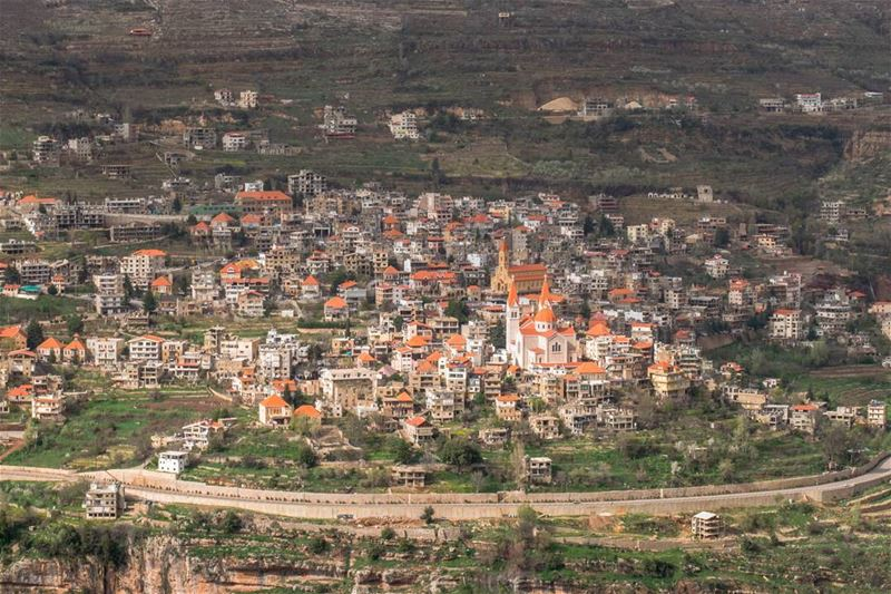 Bcharre, a peaceful village near the cedars of God forest, hometown of... (Bcharré, Liban-Nord, Lebanon)