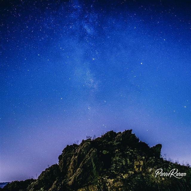 night shot nightphotography rock stars sky travelphotography ...