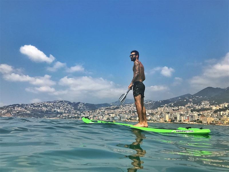 🚣🏽 sup ... (Bay Of Jounieh)