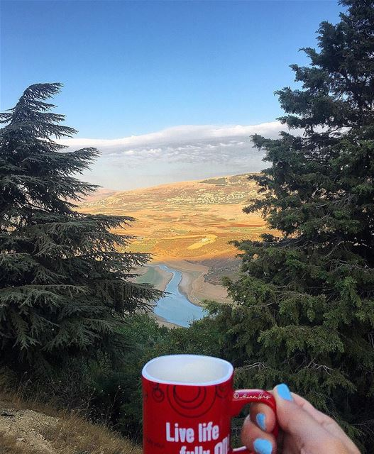 Friday Afternoon be like 💆🏼☕️ bekaa valley sunset coffee nescafe ... (Saghbîne, Béqaa, Lebanon)