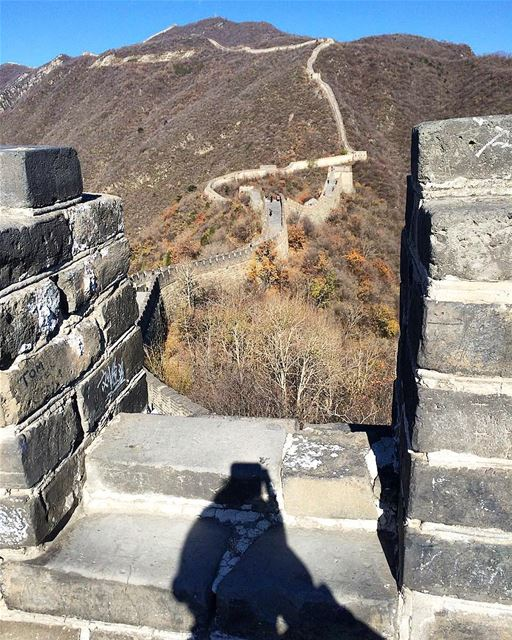 ... The wall ahead,The sun behind,Your shadow underneath...The view -... (Great Wall of China)