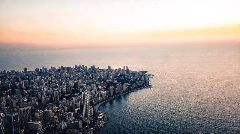 Beirut City📍 Drone: DJI Phantom 4 Pro+📍 Height: 400 meters📍 Location: (Beirut, Lebanon)