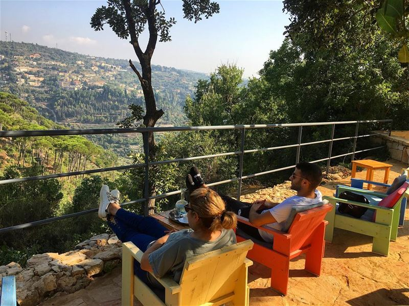 After 3 Months...Coffee Time with My Mom 🇱🇧🌳🌿Beit EL Qamar  coffee... (Beit El)