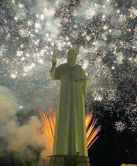 Spiritual fire works marcharbellebanon 🙏🏼🙏🏼...📸: @perlabader .....