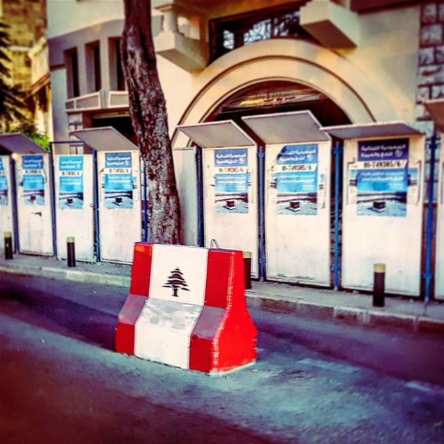 Blockage  national  emblem  driving  evening  rushhour  latergram  beirut ... (Beirut, Lebanon)