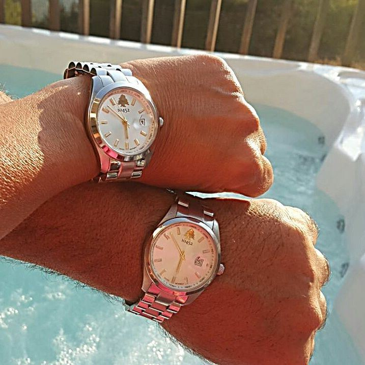 10452dna watches for him & her on a hot summer day couple family ... (monteverde beirut Lebanon)