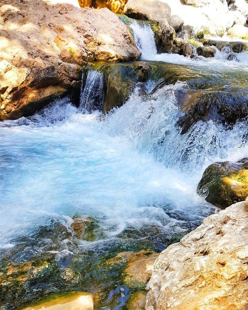 Time is like river . You cannot touch the same water twice, because the... (Nahr Ibrahim, Mont-Liban, Lebanon)