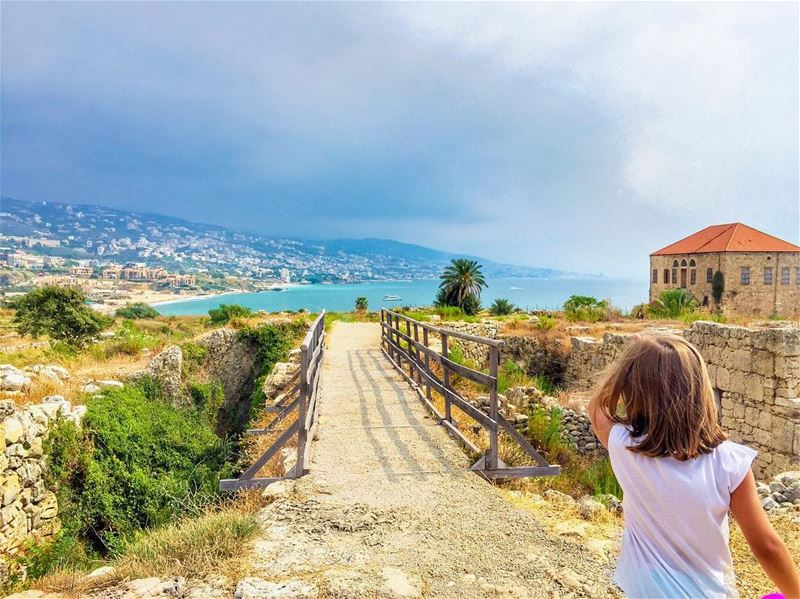 """It takes both sides to built a bridge"" lebanon jbeil byblos ..... (Byblos Castle)"