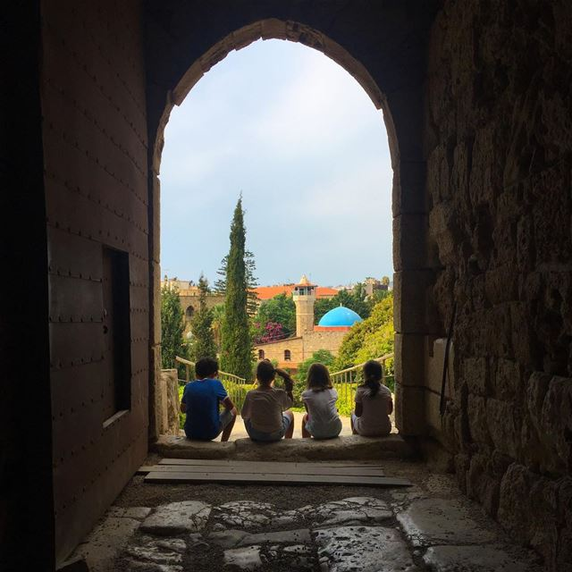 """Seek the light, find a way"" lebanon jbeil byblos .. nature ... (Byblos Castle)"