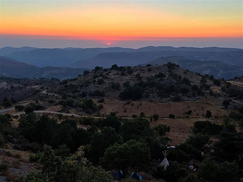 Today's Sunset 🌅 sunset bmohray chouf ... (Cedars Ground Campsite)