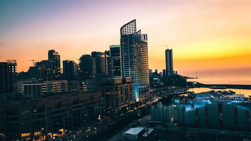 When it's the perfect sunset at Beirut City and exactly from @beastsme and... (BEASTS)