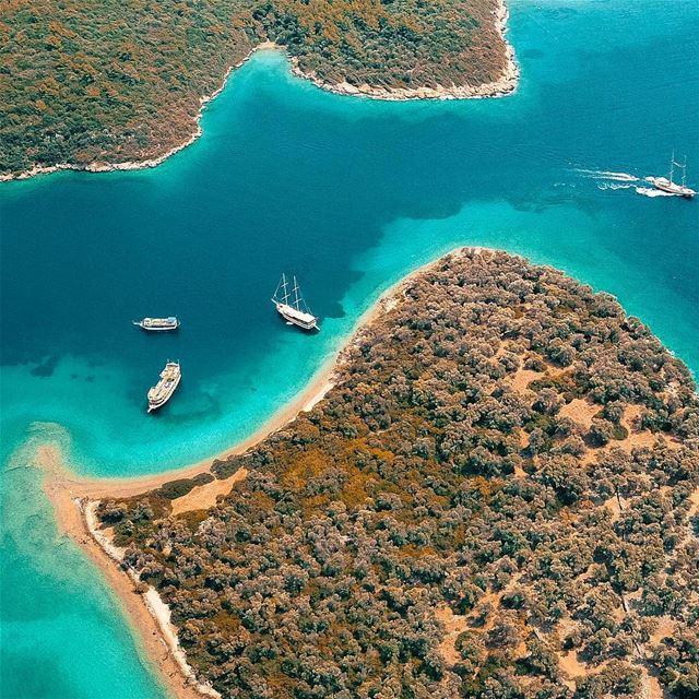 Exploring the beautiful islands of Marmaris 🚁🇱🇧🚁📍Drone: DJI Mavic... (Cleopatra Island, Mamaris)