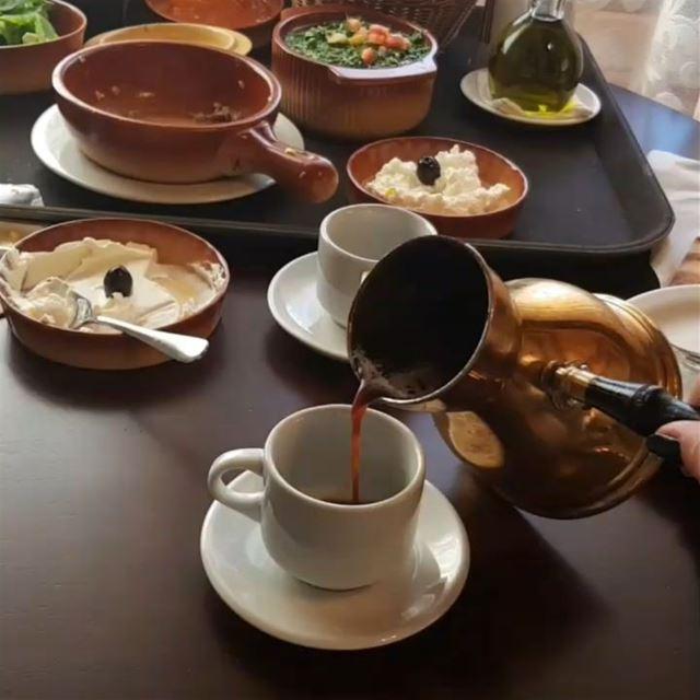 صباحو! Lebanon coffee morning lebanesefoodies lebanesefood ... (Bâroûk, Mont-Liban, Lebanon)